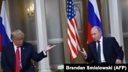 Дональд Трамп һәм Владимир Путинның Һелсинкидагы очрашуы