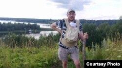 Ондржей Соукуп на берегу Волги во время одной из поездок в Россию