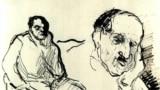 Fritz Ascher, Două studii - Max Liebermann, cca. 1910