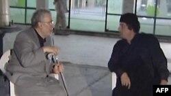 Освобожденный аль-Меграхи на встрече с Муамаром Каддафи