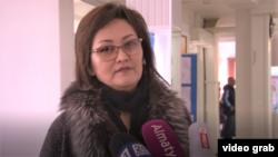 Эльмира Омирбекова, директор школы № 43, временно отстраненная от работы. Тараз, 24 февраля 2020 года.