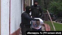 Belarus televiziyasının reportajından kadr
