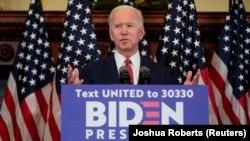 Џо Бајден, поранешен потпретседател и сегашен кандидат на Демократската партија за претседателските избори во САД