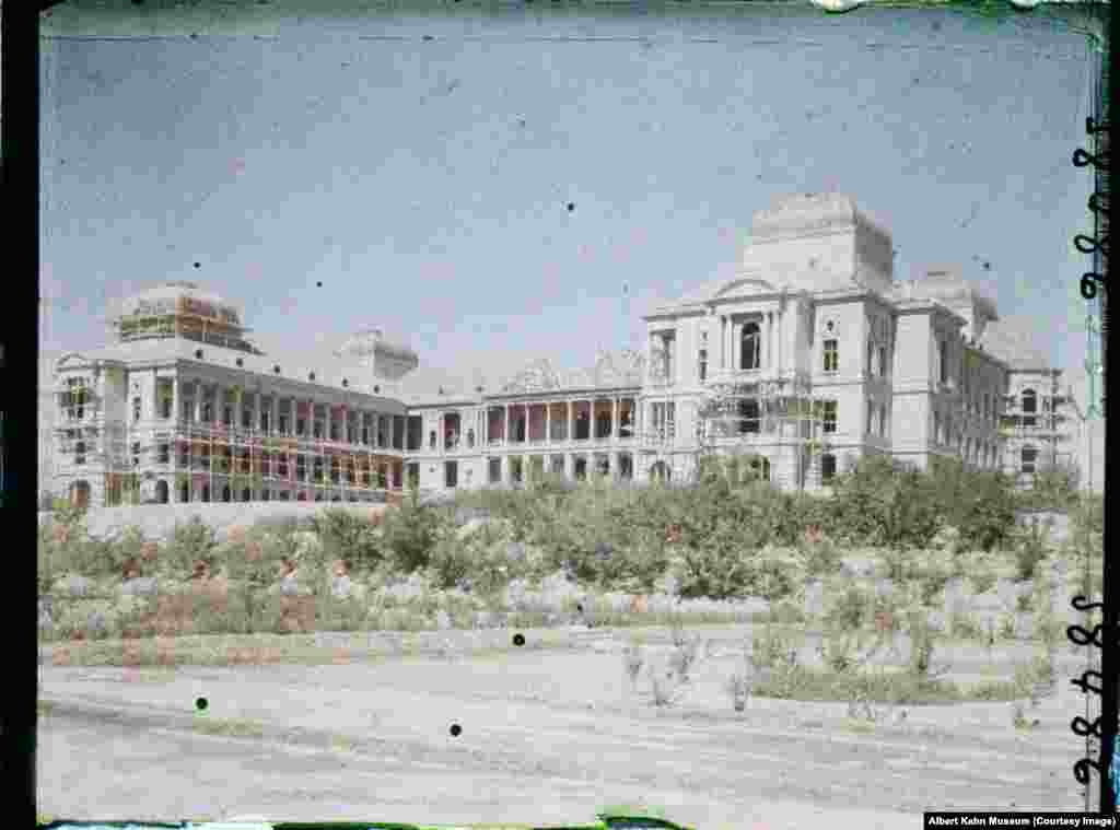 The Darul Aman Palace, on the outskirts of Kabul. The palace was another project of Amanullah Khan's, but after Islamic hard-liners forced him from power in 1929 its construction was stalled.
