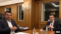 Лидерска средба меѓу премиерот Зоран Заев и претседателот на ВМРО-ДПМНЕ, Христијан Мицкоски