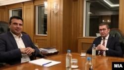 Архивска фотографија- Лидерска средба меѓу премиерот Зоран Заев и претседателот на ВМРО-ДПМНЕ, Христијан Мицкоски
