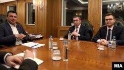 Лидерска средба меѓу премиерот Зоран Заев и претседателот на ВМРО-ДПМНЕ Христијан Мицкоски, март 2019.