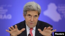 "U.S. Secretary of State John Kerry said the United States remains ""fully committed"" to the defense of NATO's Eastern European members."