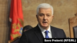 Душко Маркович виступає в парламенті, Подґориця, 28 листопада 2016 року