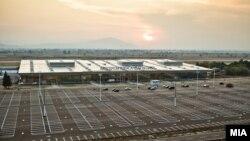 """Скопскиот аеродром """"Александар Велики""""."""