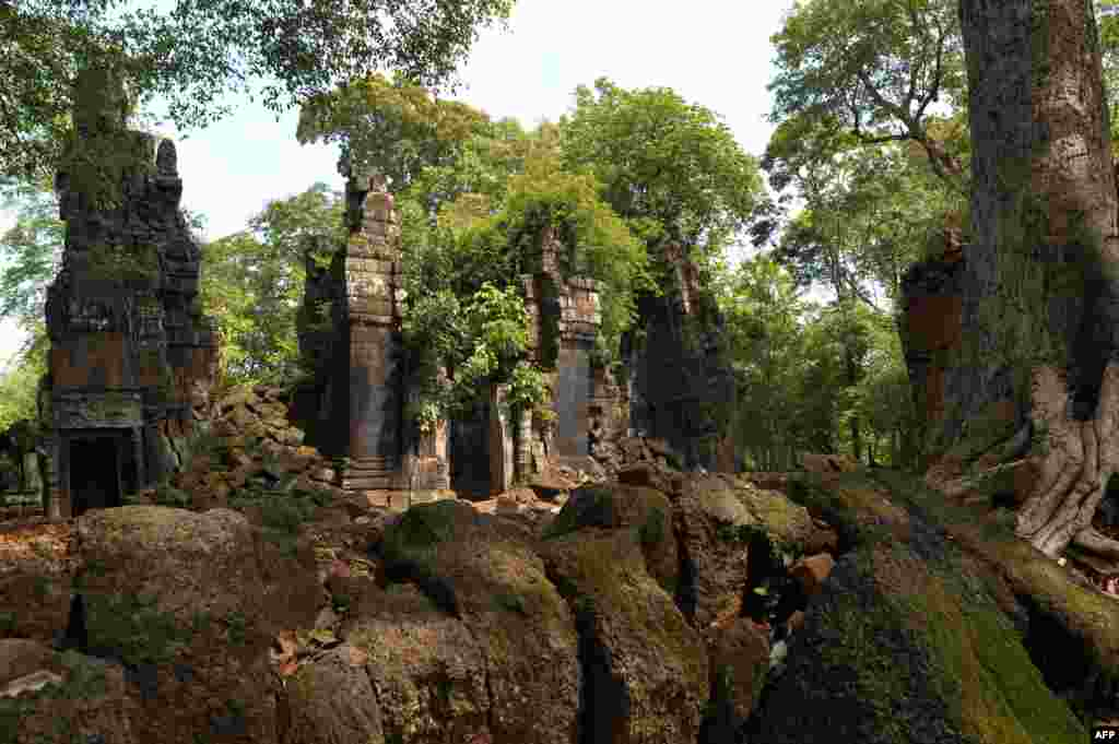 The Prasat Chen temple at Preah Vihear in Cambodia