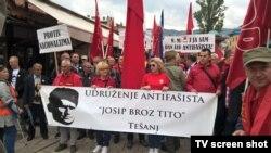Marš antifašista u Sarajevu