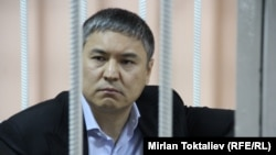 Kamchybek Kolbaev appears in court in Bishkek last month.