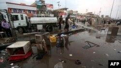 Իրաք - Բաղդադի Սադր Սիթի թաղամասի շուկան պայթյունից հետո, 28-ը փետրվարի, 2016թ․
