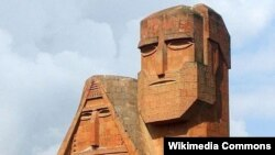 "Armenia/Nagorno-Karabakh -- A landmark monument, ""We Are Our Mountains"", in Stepanakert."