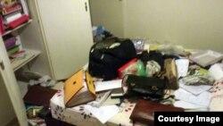 تصویر منتشر شده از یکی از اتاقهای منزل نسرین ستوده پس از دستبرد