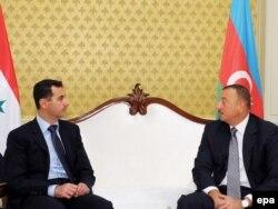 Azərbaycan - Suriya prezidenti Bashar al-Assad (solda) və İlham Əliyev 9 iyul 2009
