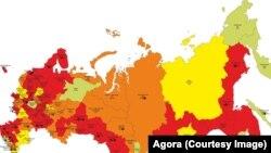 Rusiyanın xəritəsi