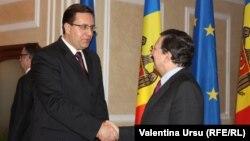 Marian Lupu cu Jose Manuel Barroso