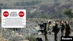 Международные миротворческие силы на границе Сербии и Косова