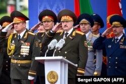 Лукашенко на параді у Мінську, 2018 рік