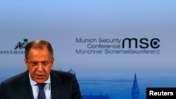 Сергій Лавров виступає на Мюнхенській конференції, 7 лютого 2015 року