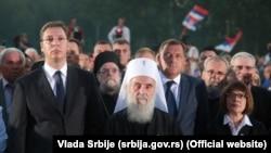Aleksandar Vučić, patrijarh Irinej, Milorad Dodik, Maja Gojković