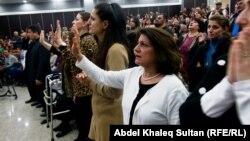 صلاة جماعية للكنائس الانجيلة في دهوك
