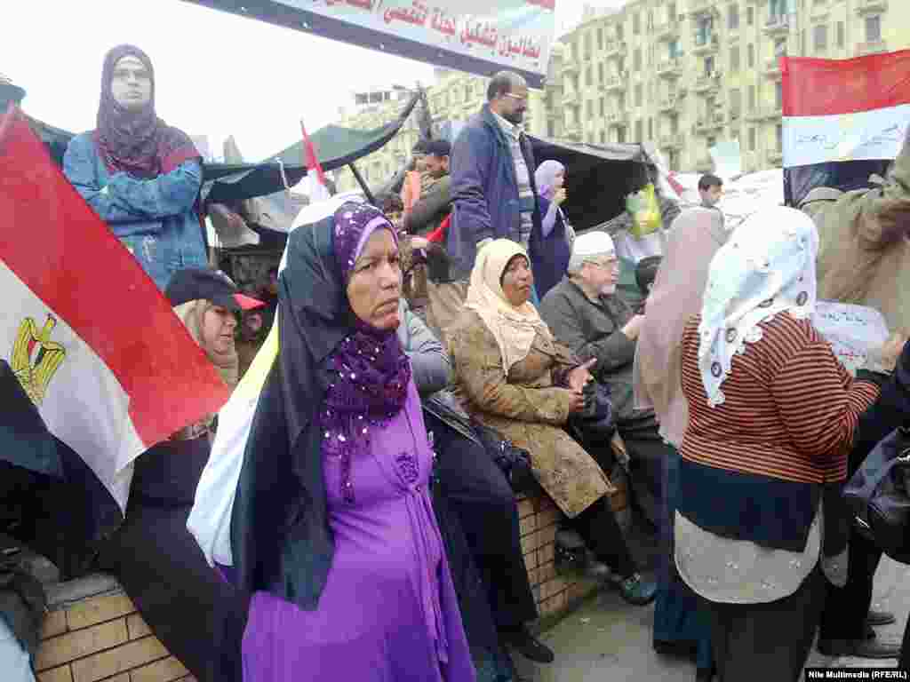 The demonstrations around the capital's Tahrir Square have cut across class and generational divides