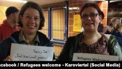 Активісти гамбурзької групи Refugees Welcome вітають біженців