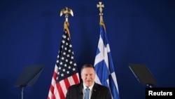 Държавният секретар на САЩ Майк Помпео по време на визитата си в Гърция