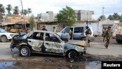 آثار تفجير في بهرز