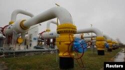 Одна из газоизмерительных станций на территории Украины