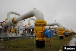 Газ құбырлары. Украина, 16 қазан 2014 жыл.