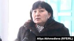 Азаматтық белсенді Маржан Аспандиярова. Талдықорған, 10 қаңтар 2014 жыл.