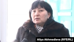 Гражданская активистка Маржан Аспандиярова. Талдыкорган, 10 января 2014 года.