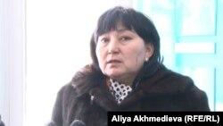 Маржан Аспандиярова, представитель стороны потерпевших на процессе по пересмотру дела об убийстве Алтынбека Сарсенбаева.
