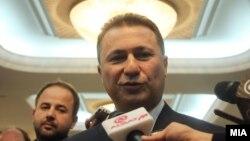 Премиерот Никола Груевски пристигнува на Седница на Анкетна комисија за скандалот со прислушувањето.