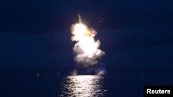 Адзін з запускаў ракеты ў Паўночнай Карэі