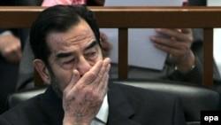محاکمه صدام حسین به اتهام کشتار کرد های عراق در جریان است