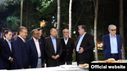 Участники саммита в Душанбе.