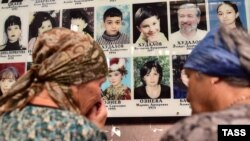 В День памяти жертв террористического акта в спортивном зале школы №1 Беслана, 1 сентября 2016 года