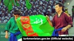 Туркменские спортсмены на V Азиатских играх в закрытых помещениях и по боевым искусствам Ашхабад-2017 (Иллюстративное фото)