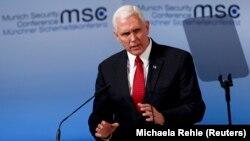 ԱՄՆ փոխնախագահ Մայք Փենսը ելույթ է ունենում Մյունխենի համաժողովում, 18-ը փետրվարի, 2017թ.