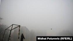 Sarajevo u smogu i magli