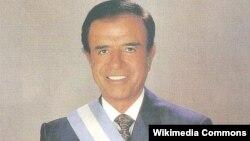 Carlos Menem në kohën kur ka qenë president.
