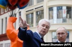 Russian President Vladimir Putin and Moscow Mayor Sergei Sobyanin visited the Dream Island amusement park on February 27 ahead of the opening.