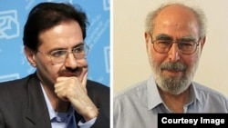 Abolfazl Qadyani (R), and Alireza Rajaee, both former regime supporters and now opposition activists.
