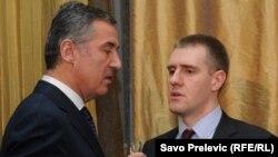 Milo Đukanović i Igor Lukšić, bivši i sadašnji premijer Crne Gore, 2011.