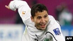 Futbol bo'yicha O'zbekiston terma jamoasi hujumchisi Ulug'bek Baqoyev.